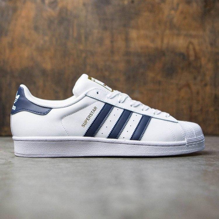 adidas superstar blanche bande bleu