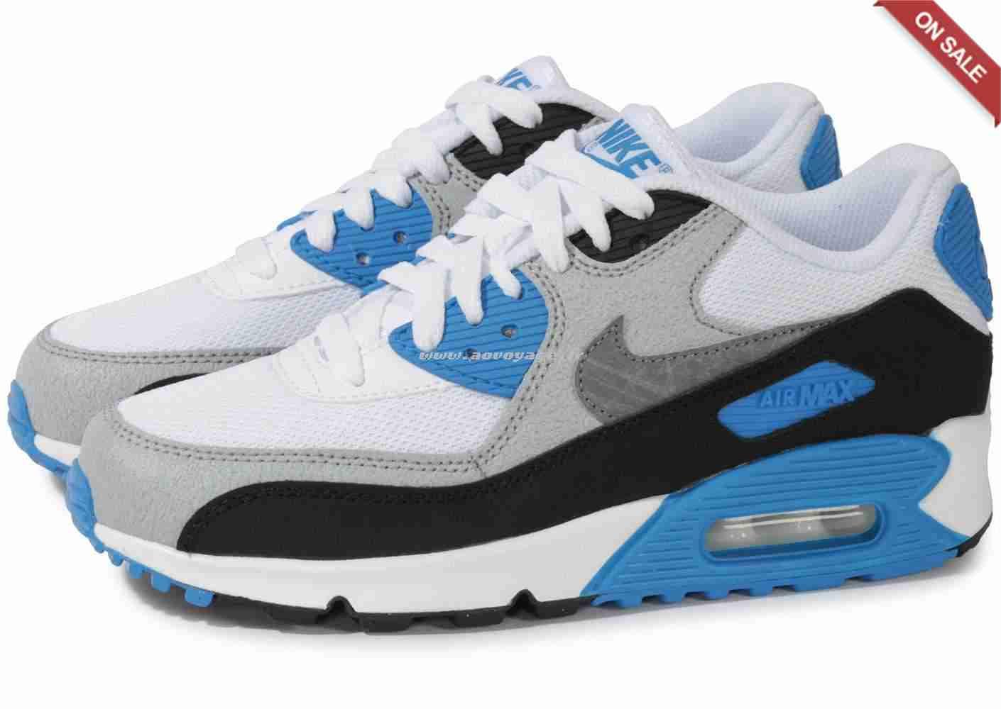 air max 90 bleu blanc